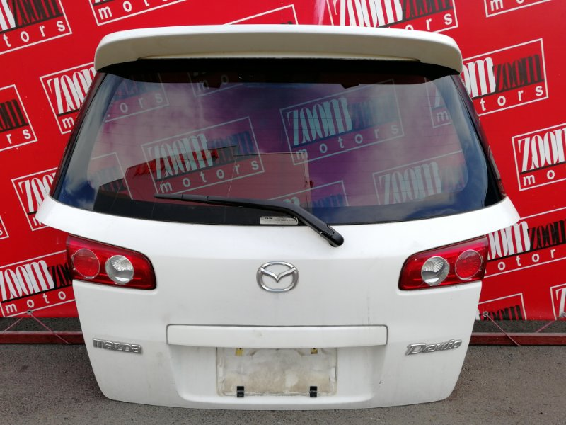 Дверь задняя багажника Mazda Demio DY3W ZJ-VE 2002 задняя белый перламутр