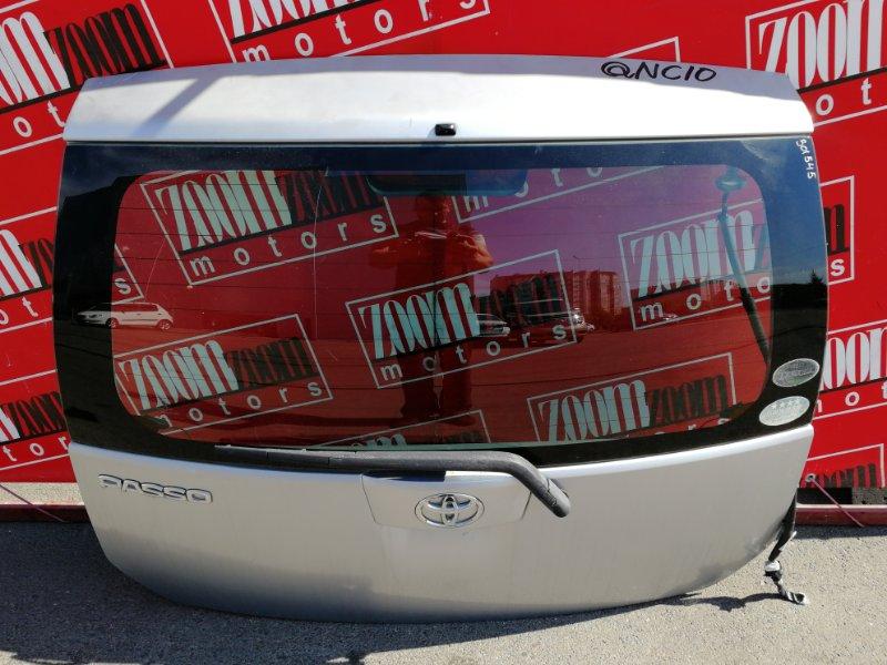 Дверь задняя багажника Toyota Passo QNC10 K3-VE 2004 задняя серебро