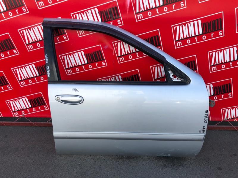 Дверь боковая Nissan Cefiro WPA32 VQ25DE 1994 передняя правая серебро