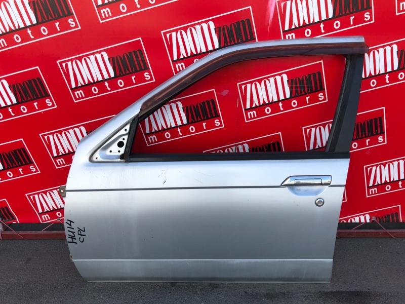 Дверь боковая Nissan Bluebird EU14 SR18DE 1996 передняя левая серебро