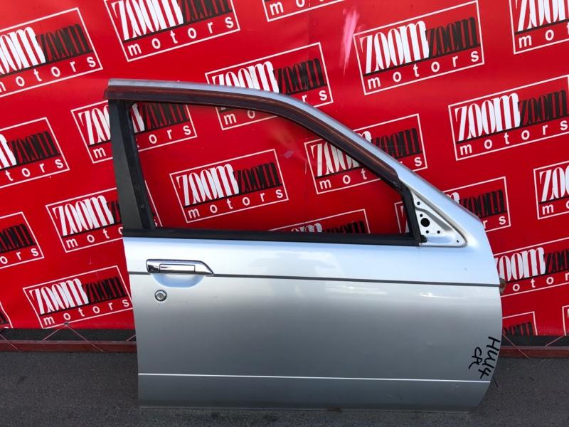 Дверь боковая Nissan Bluebird EU14 SR18DE 1996 передняя правая серебро