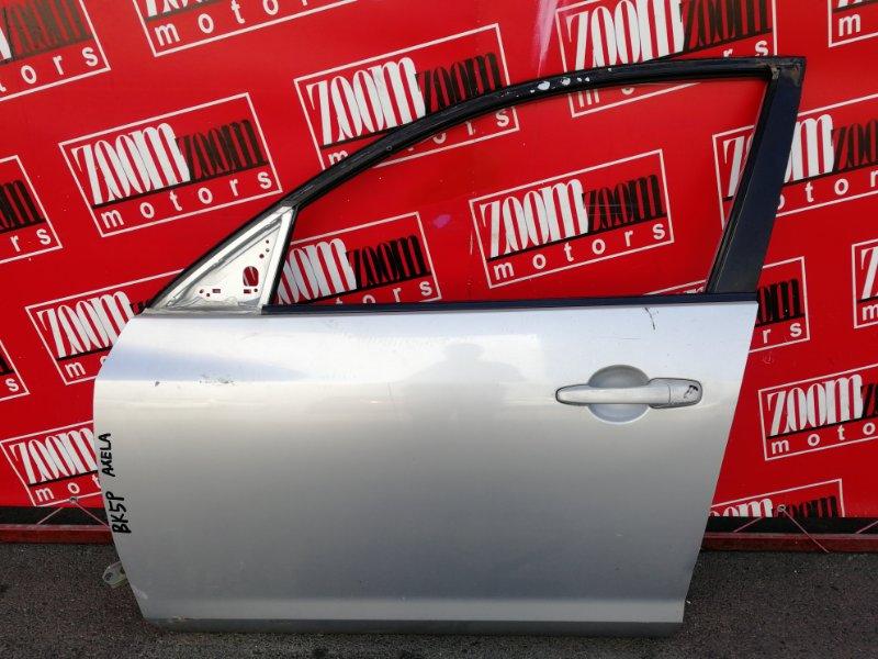 Дверь боковая Mazda Axela BK5P ZY-VE 2003 передняя левая серебро
