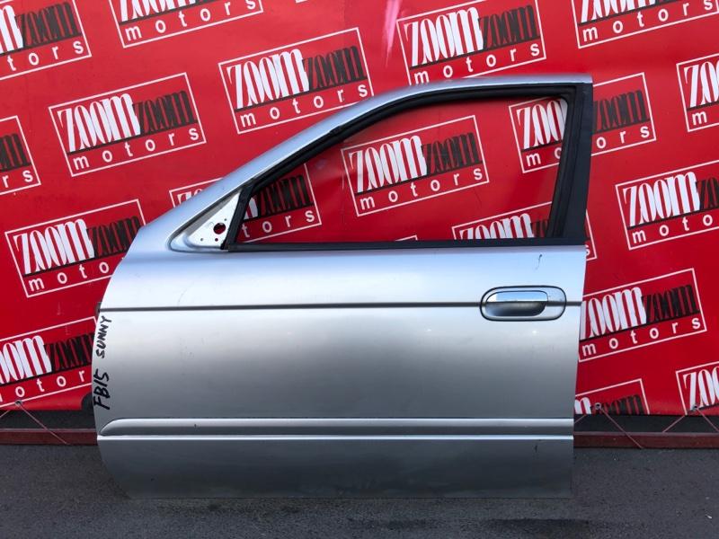 Дверь боковая Nissan Sunny FB15 QG15DE 1998 передняя левая серебро