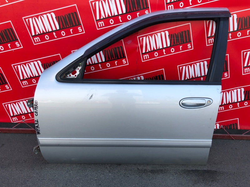 Дверь боковая Nissan Cefiro WPA32 VQ25DE 1994 передняя левая серебро