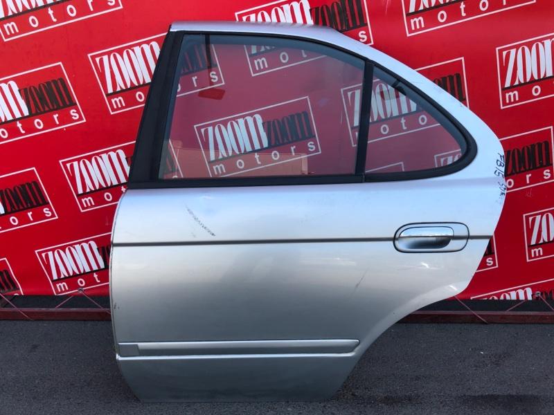 Дверь боковая Nissan Sunny FB15 QG15DE 1998 задняя левая серебро
