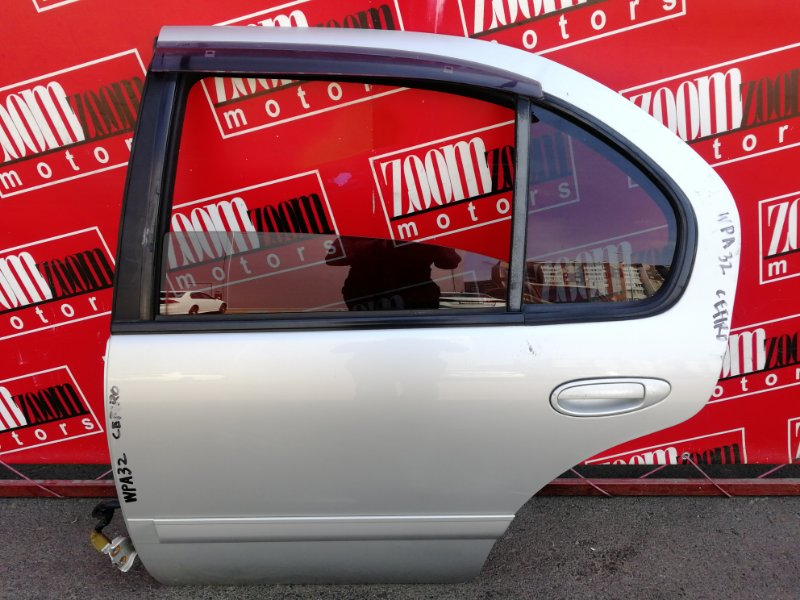 Дверь боковая Nissan Cefiro WPA32 VQ25DE 1994 задняя левая серебро