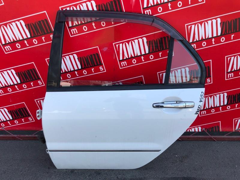 Дверь боковая Mitsubishi Lancer Cedia CS5A 4G93 2000 задняя левая белый перламутр