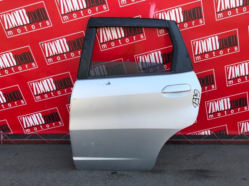 Дверь боковая Honda Fit GE6 L13A 2007 задняя левая серебро