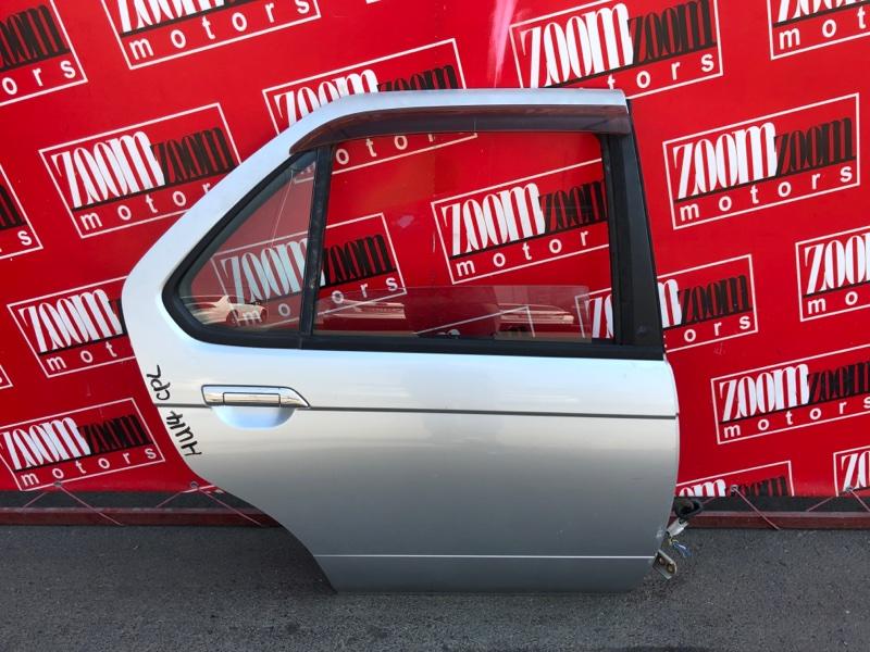 Дверь боковая Nissan Bluebird EU14 SR18DE 1996 задняя правая серебро