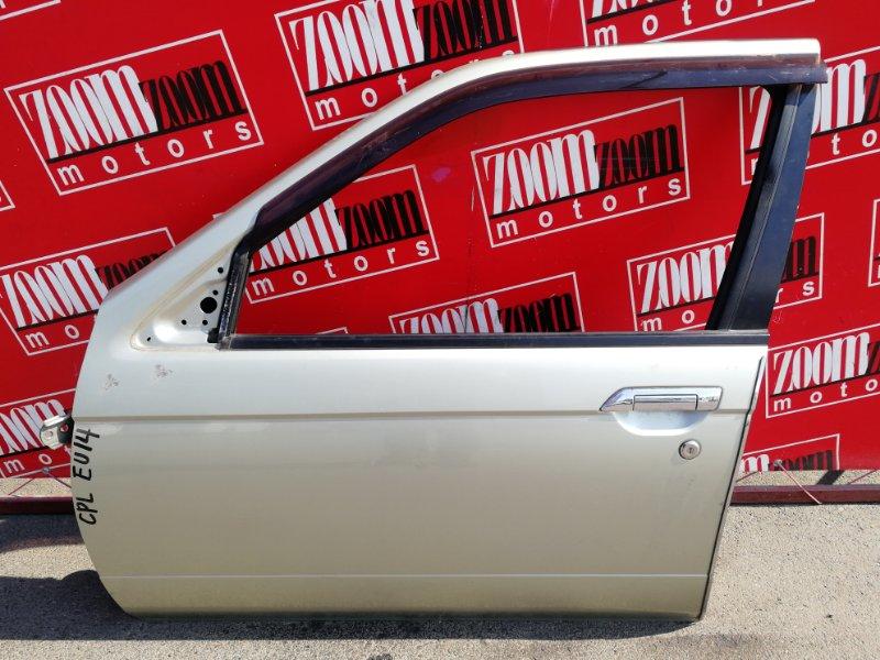 Дверь боковая Nissan Bluebird EU14 SR18DE 1996 передняя левая золото