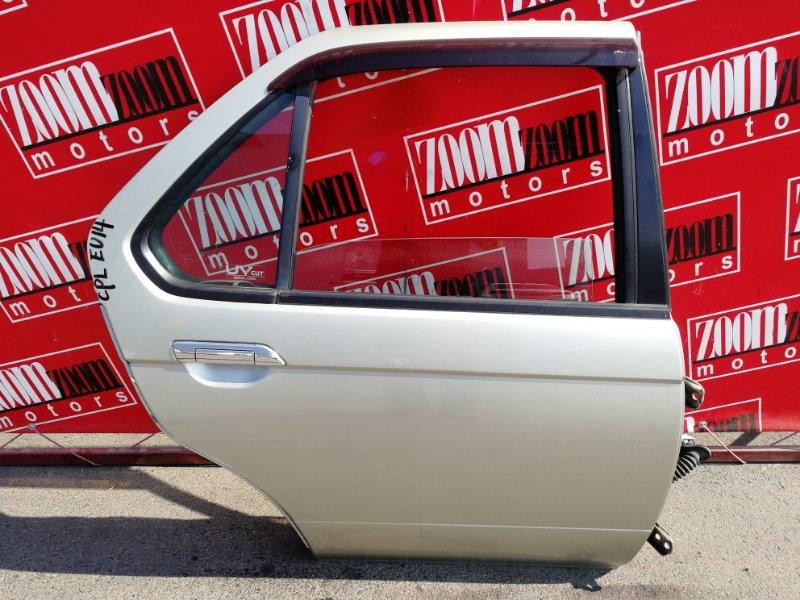 Дверь боковая Nissan Bluebird EU14 SR18DE 1996 задняя правая золото
