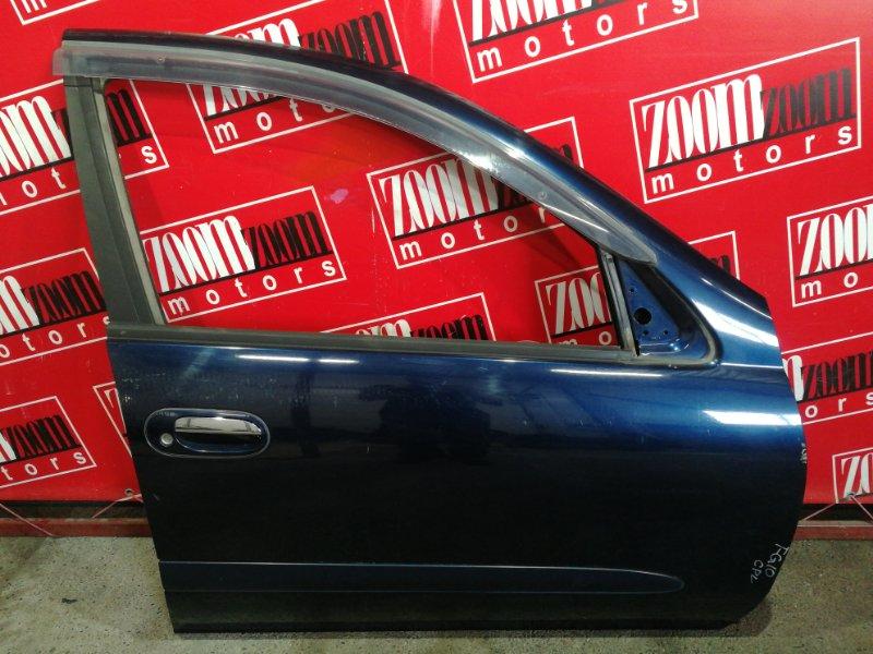 Дверь боковая Nissan Bluebird Sylphy QG10 QG18DE 2000 передняя правая синий