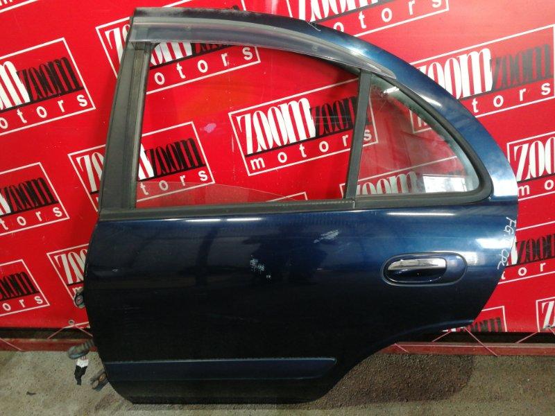 Дверь боковая Nissan Bluebird Sylphy QG10 QG18DE 2000 задняя левая синий