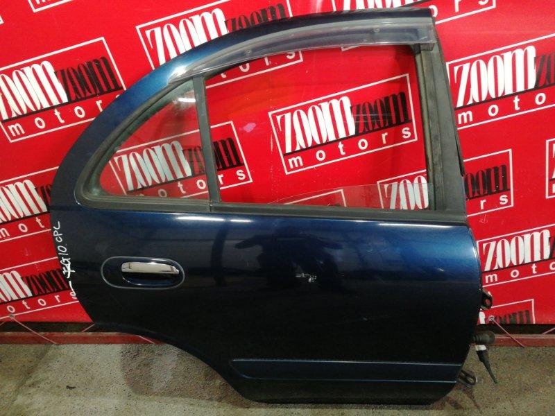 Дверь боковая Nissan Bluebird Sylphy QG10 QG18DE 2000 задняя правая синий