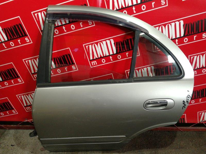 Дверь боковая Nissan Bluebird Sylphy QG10 QG18DE 2000 задняя левая серый