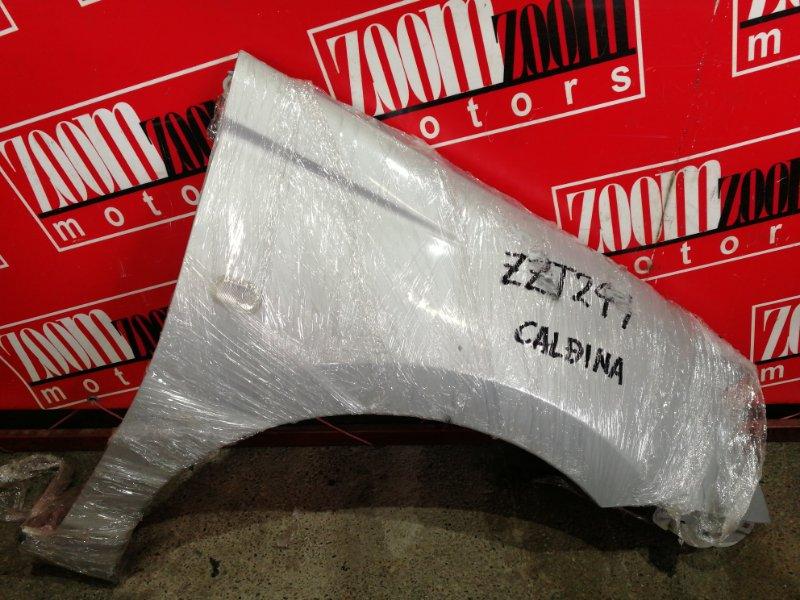 Крыло Toyota Caldina ZZT241W 1ZZ-FE 2002 переднее правое серебро