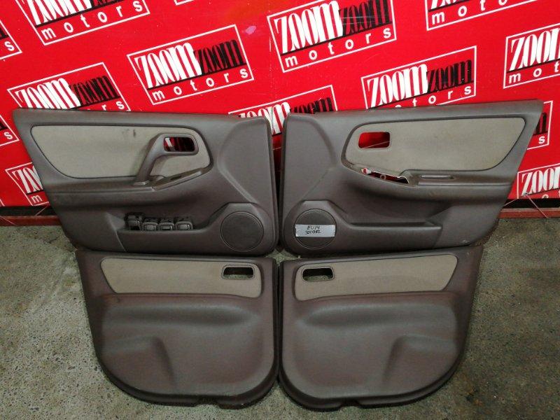 Обшивка двери Nissan Bluebird EU14 SR18DE 1996 коричневый