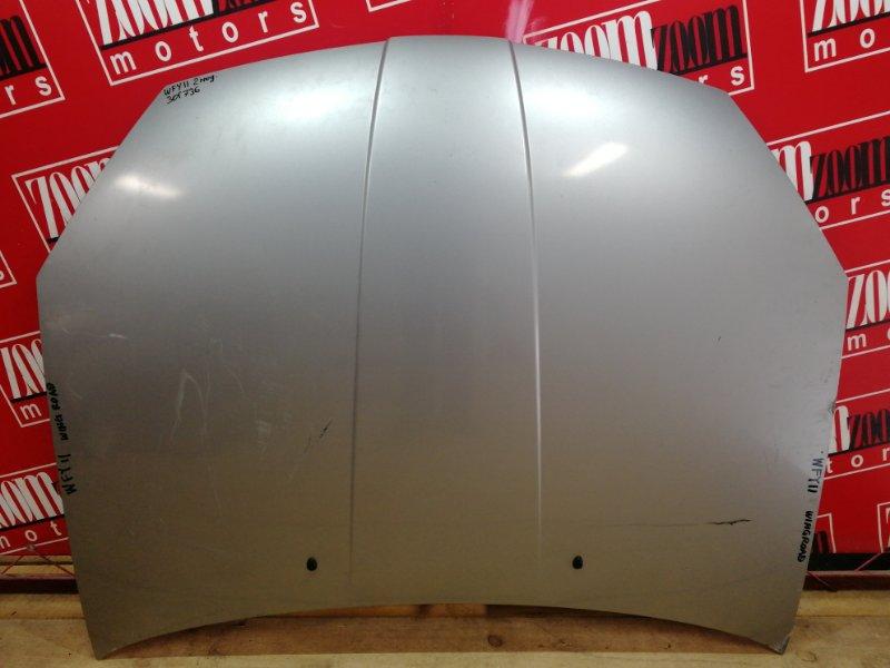 Капот Nissan Wingroad WFY11 QG15DE 2002 серебро