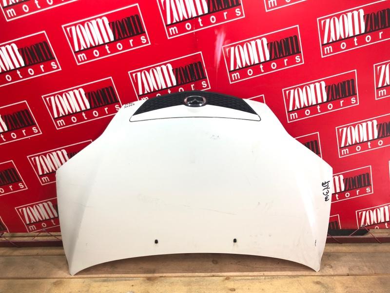 Капот Mazda Demio DY3W ZJ-VE 2002 белый перламутр
