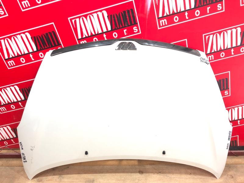Капот Toyota Wish ZNE10G 1ZZ-FE 2003 белый перламутр