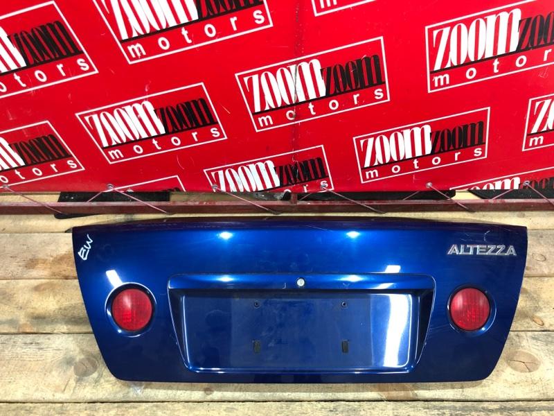 Крышка багажника Toyota Altezza SXE10 3S-GE 1998 синий