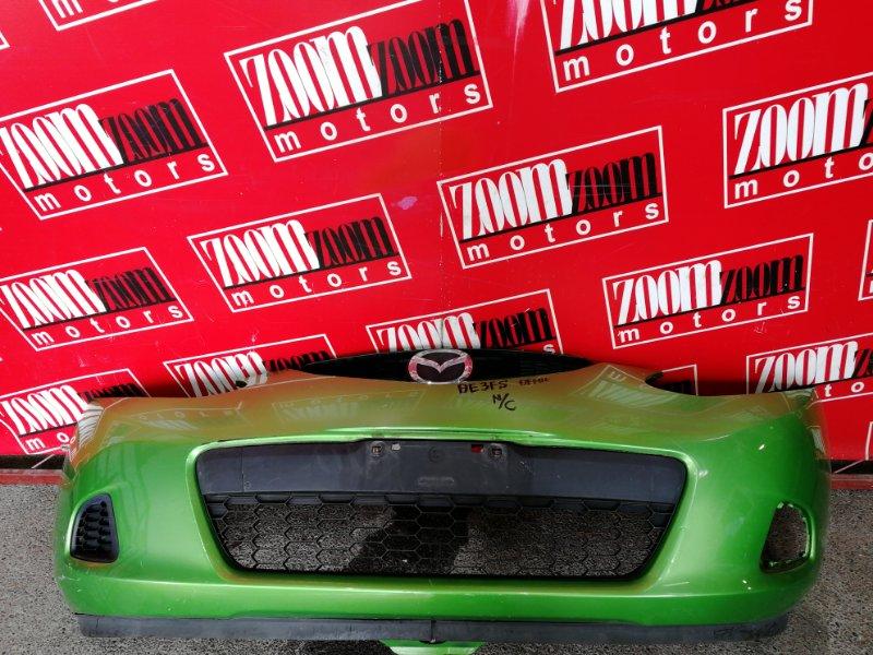 Бампер Mazda Demio DE3FS ZJ-VE 2007 передний зеленый