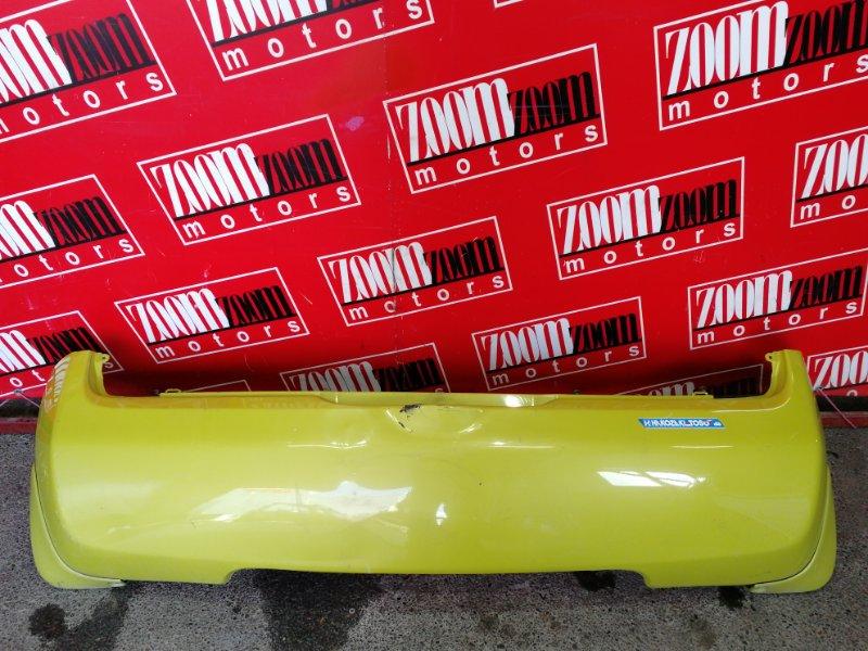 Бампер Nissan March K12 CR12DE 2002 задний желтый