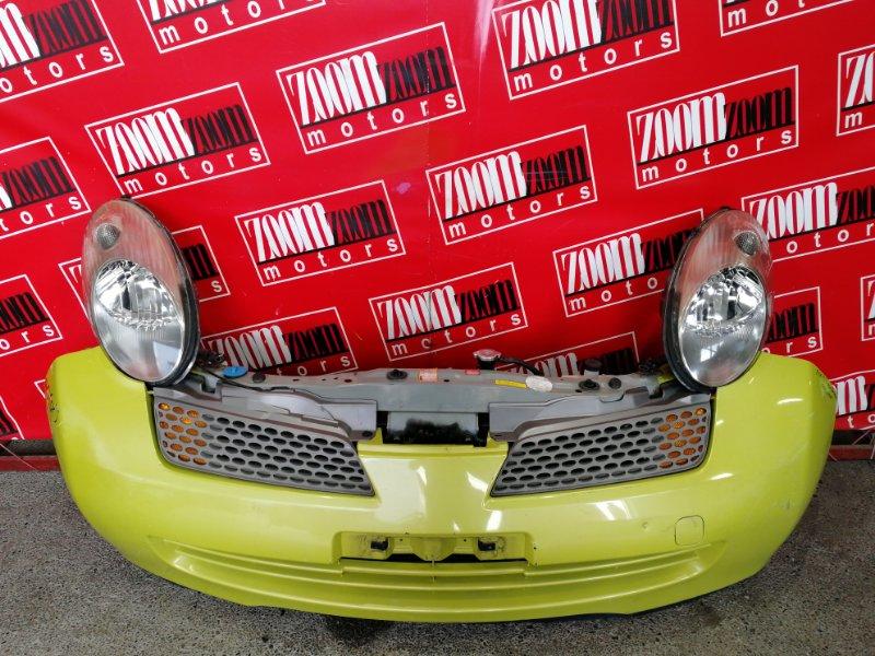 Nose cut Nissan March K12 CR12DE 2002 желтый