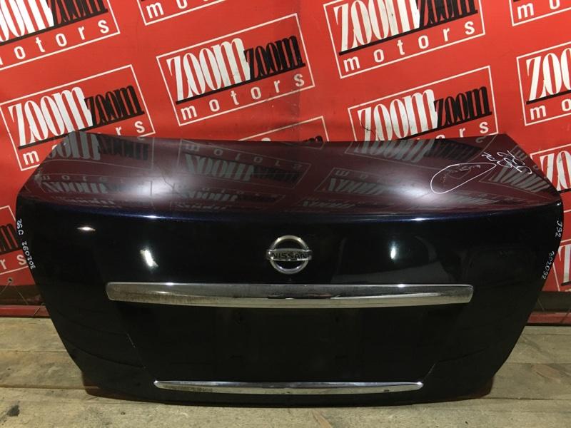 Крышка багажника Nissan Teana J32 VQ25DE 2008 задняя темно синий