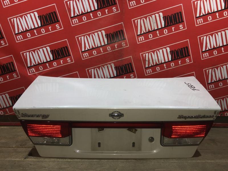 Крышка багажника Nissan Sunny FB15 QG15DE 1998 задняя белый перламутр
