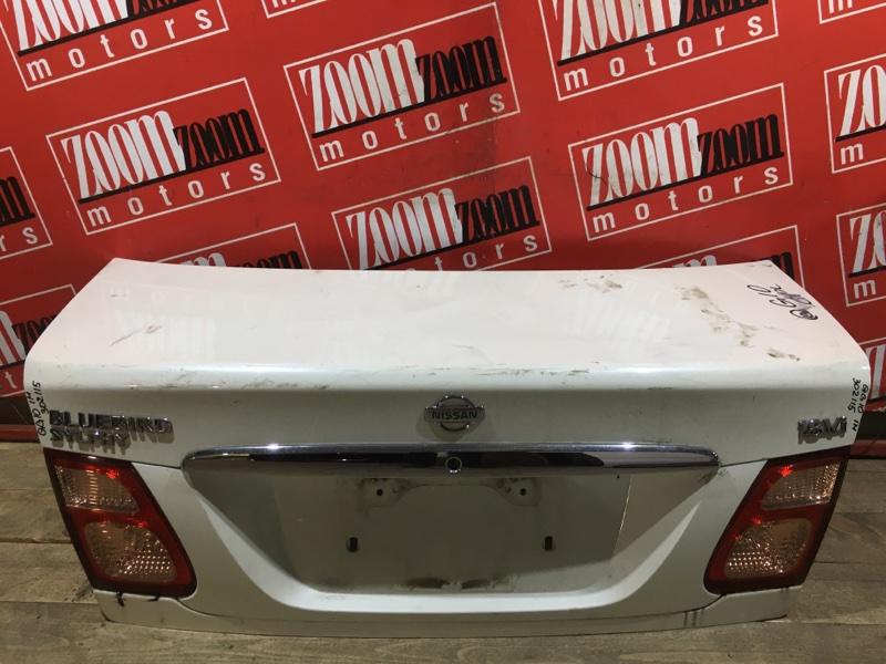 Крышка багажника Nissan Bluebird Sylphy QG10 QG18DE 1998 задняя белый перламутр