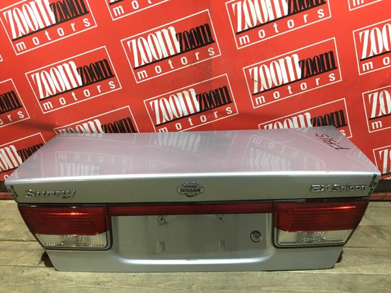 Крышка багажника Nissan Sunny FB15 QG15DE 1998 задняя серебро