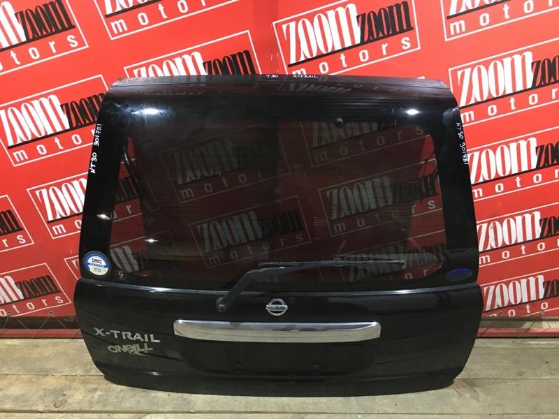 Дверь задняя багажника Nissan X-Trail NT30 QR20DE `2001 задняя черный