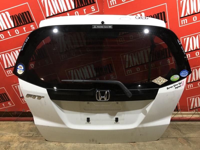 Дверь задняя багажника Honda Fit GE6 L13A 2005 задняя белый
