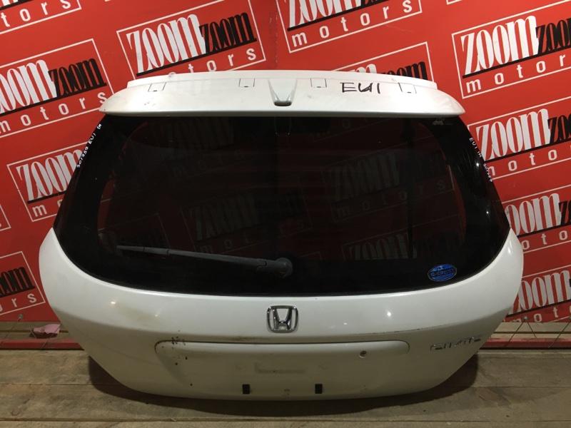 Дверь задняя багажника Honda Civic EU1 D15B 2000 задняя белый перламутр