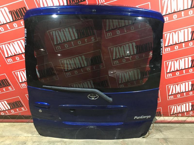 Дверь задняя багажника Toyota Funcargo NCP20 2NZ-FE 1999 задняя синий
