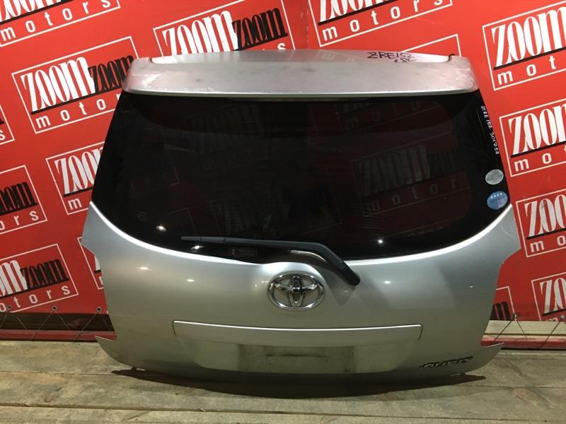 Дверь задняя багажника Toyota Auris ZRE152 2ZR-FAE 2006 задняя серебро