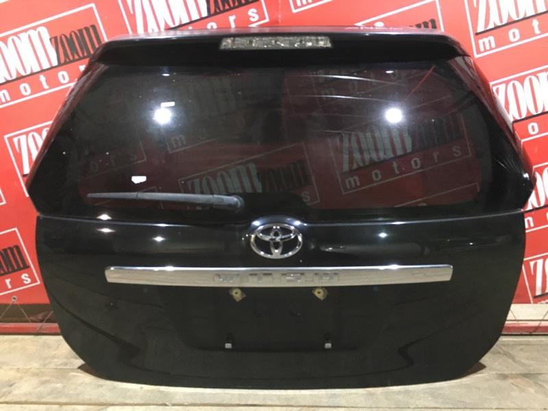 Дверь задняя багажника Toyota Wish ZNE10 1ZZ-FE 2003 задняя черный