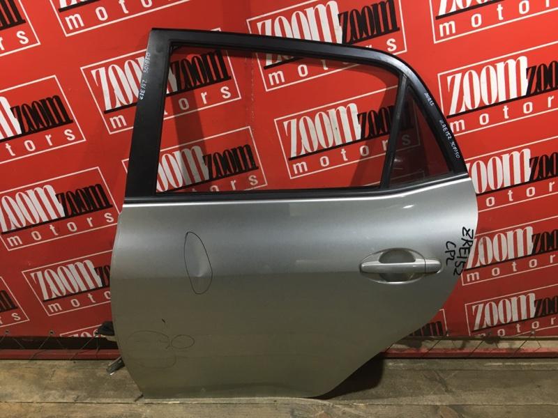Дверь боковая Toyota Auris ZRE152 2ZR-FAE 2006 задняя левая серебро