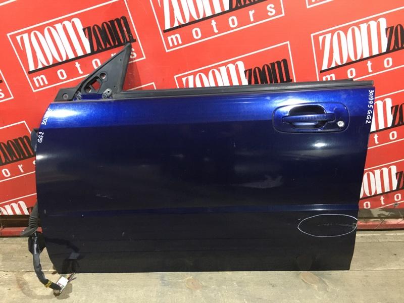 Дверь боковая Subaru Impreza GG2 EJ15 2000 передняя левая синий