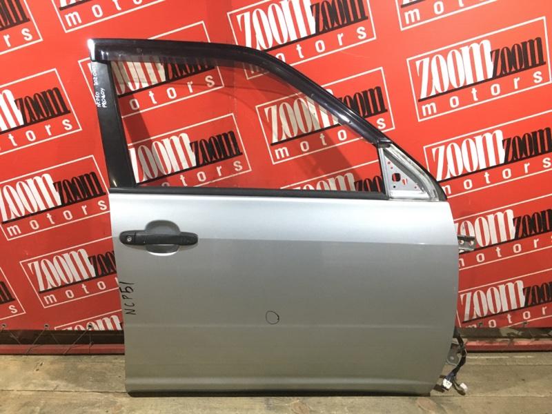 Дверь боковая Toyota Probox NCP50 2NZ-FE 2002 передняя правая серебро