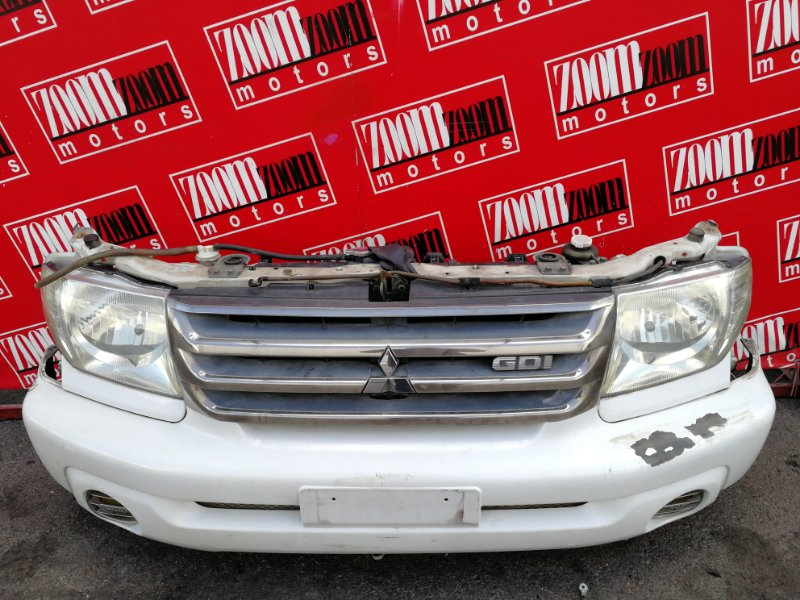 Nose cut Mitsubishi Pajero Io H77W 4G94 2000 белый перламутр