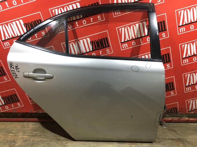 Дверь боковая Toyota Allion ZZT240 1ZZ-FE 2001 задняя правая серебро