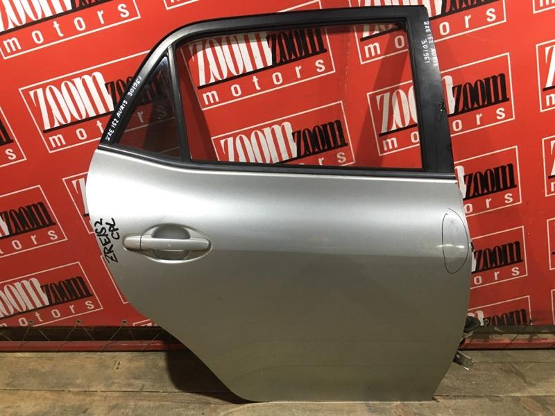 Дверь боковая Toyota Auris ZRE152 2ZR-FAE 2006 задняя правая серебро