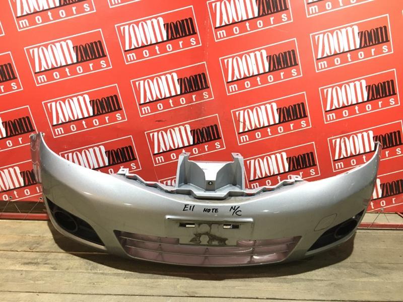 Бампер Nissan Note E11 HR15DE 2004 передний серебро