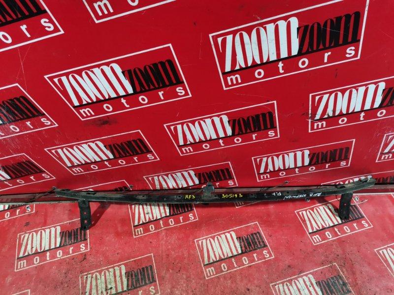 Усилитель бампера Honda Stepwgn RF3 K20A 2001 передний верхний черный
