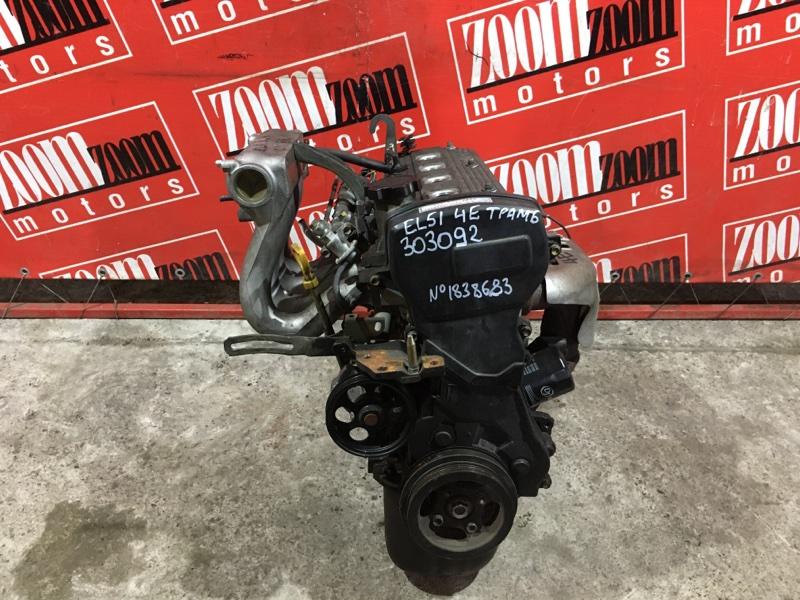 Двигатель Toyota Tercel EL51 4E-FE 1994 №1838683