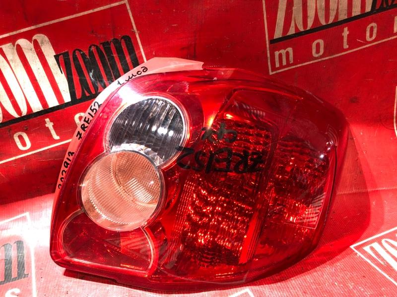 Фонарь (стоп-сигнал) Toyota Auris ZRE152 2ZR-FAE 2006 задний правый 12-509