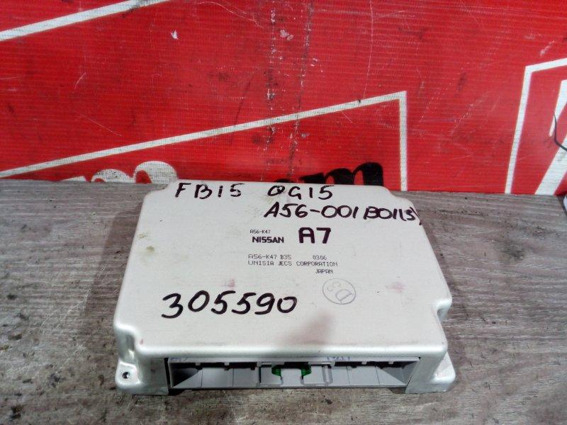 Компьютер (блок управления) Nissan Sunny FB15 QG15DE 1998 A56-001 B01 ( 3 )