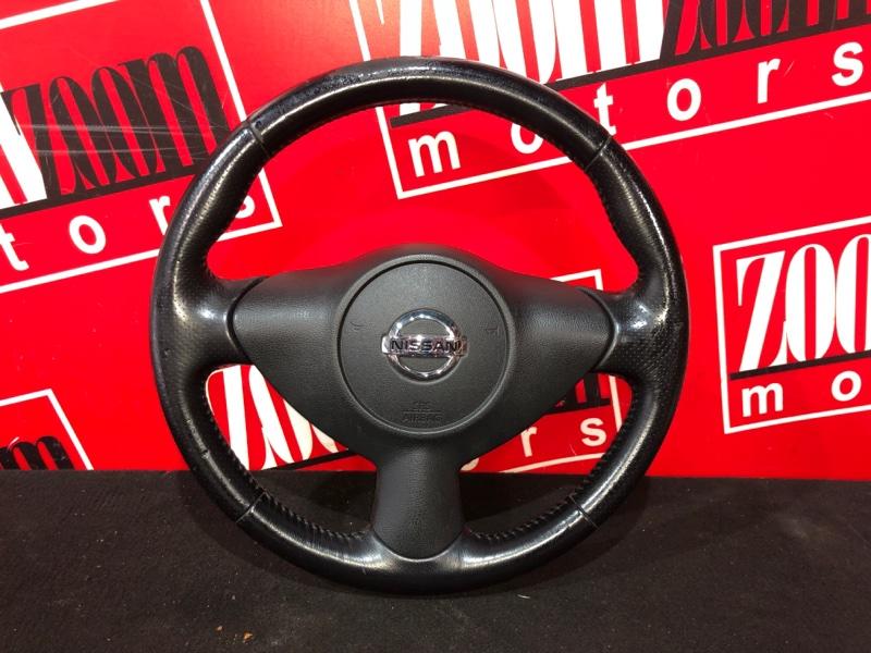 Руль Nissan Juke YF15 HR15DE 2010 черный